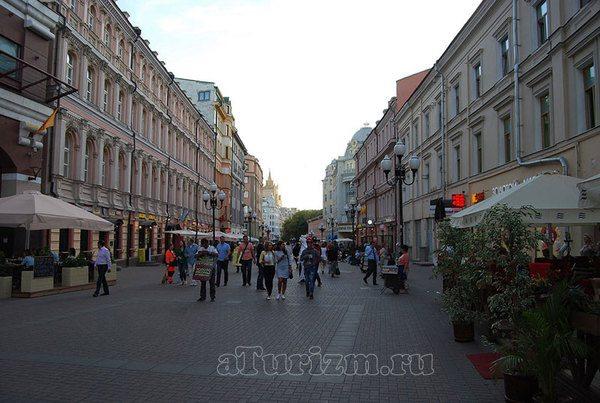 Пешеходная улица Арбат фото