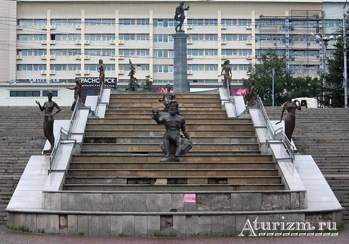 Памятник-Енисею-(Фонтан-Реки-Сибири)-Реки-Красноярья